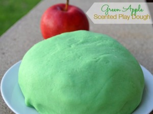 Green apple scented play dough