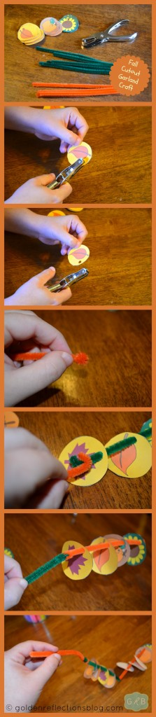 Fall Cutout Garland Craft Directions