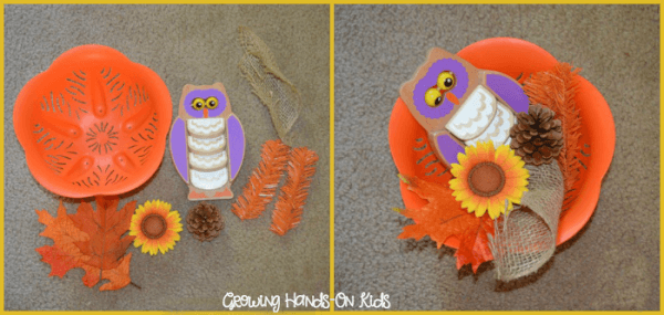 fall sensory basket for baby items
