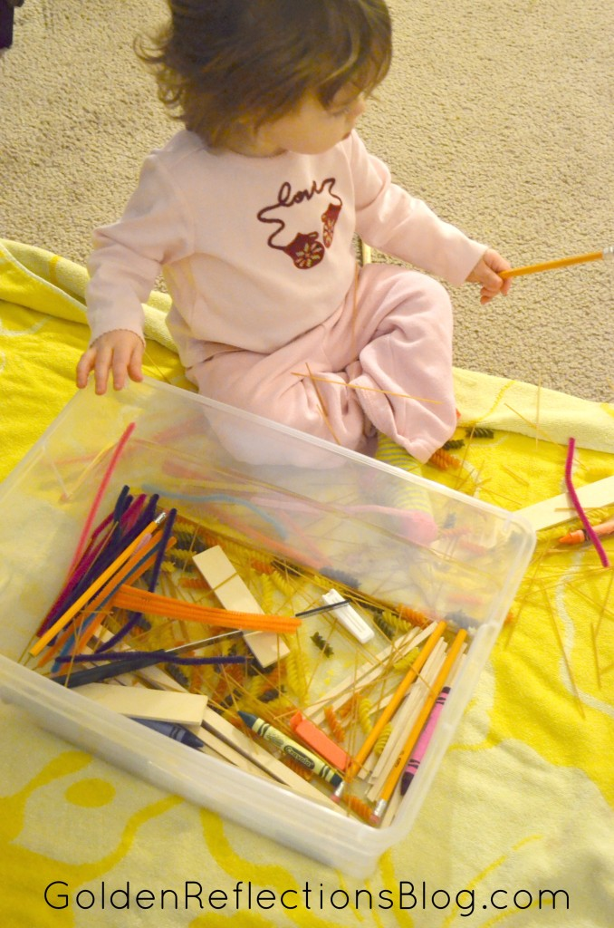 Pre-writing Activities for Kids - Straight Lines Sensory Bin | Golden Reflections Blog