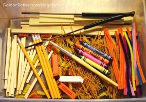 Pre-writing Lines Sensory Bin - Prewriting Activities for Children Series   Golden Reflections Blog