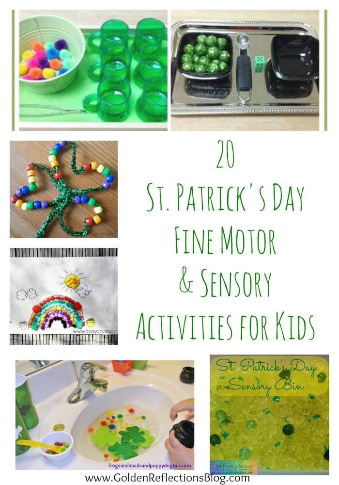 Fine motor and sensory St. Patrick's Day activities for kids