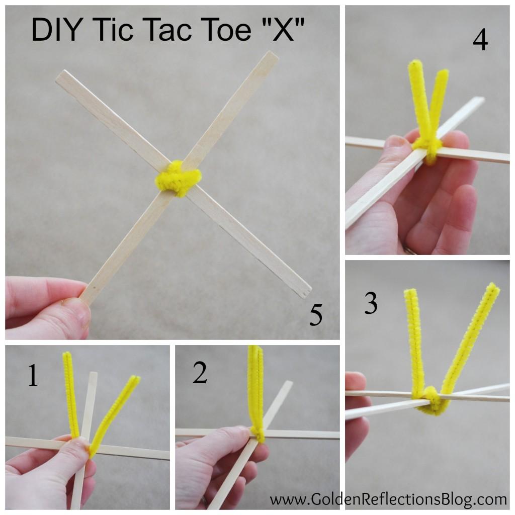 DIY Tic Tac Toe X - PreWriting Activities for Kids Series
