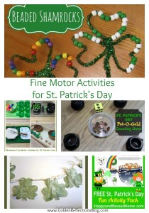 Fine Motor Activities for Kids for St. Patrick's Day
