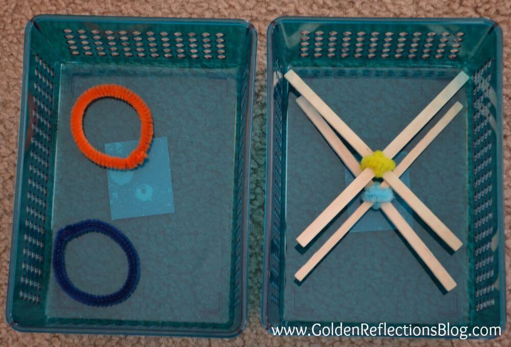Task Box for DIY Tic Tac Toe Game - PreWriting Activities for Kids Series