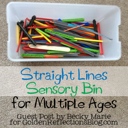 Straight Lines Sensory Bin for Multiple Ages - Guest Post