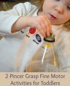 Two Pincer Grasp Fine Motor Activities for Toddlers