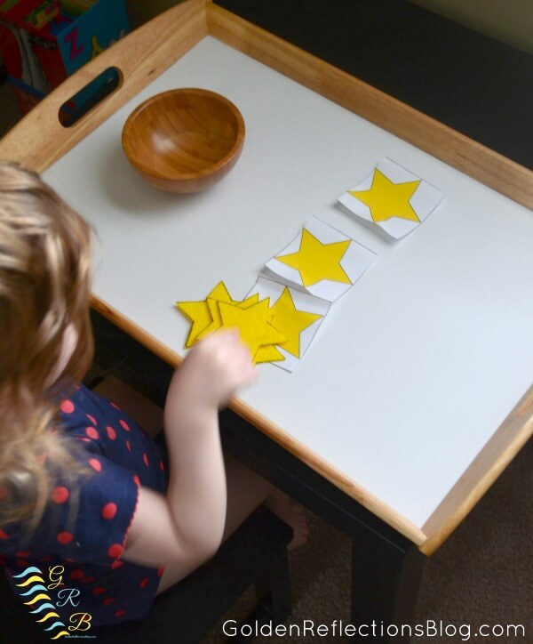 Montessori Homeschool for Toddlers - Star Themed Tot School Tray