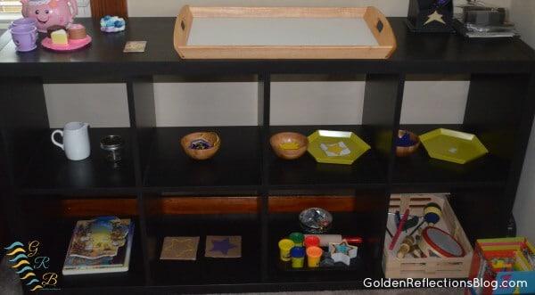 Montessori Shelves for Star Themed Week