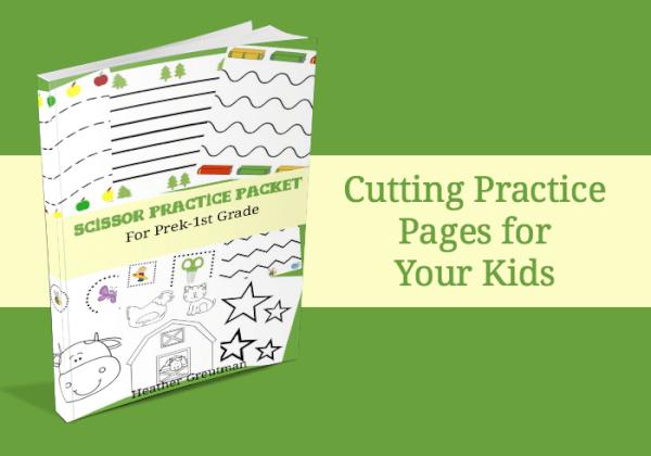 scissor practice pages for preschoolers.