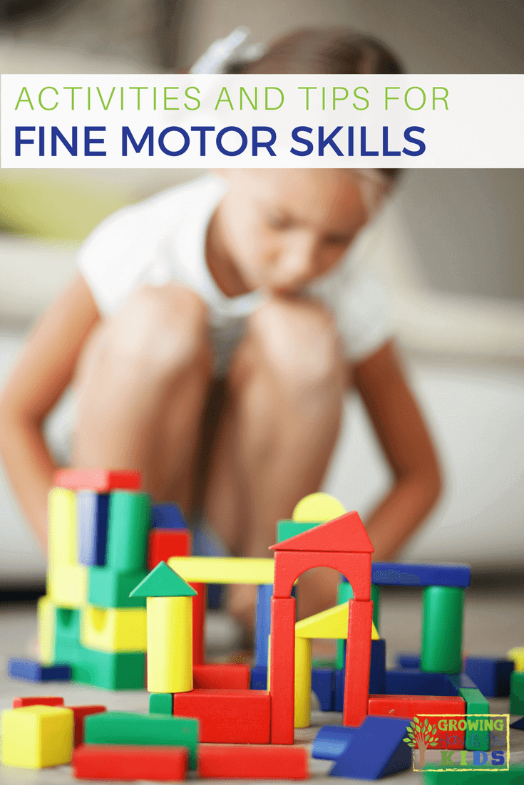 Fine motor skill activities for development