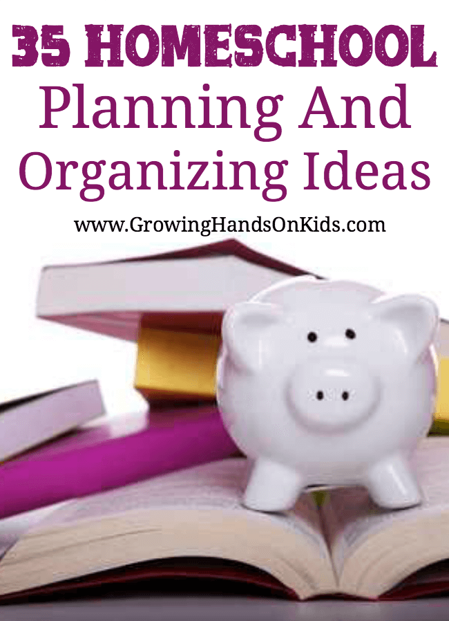 homeschool planning and organizing ideas