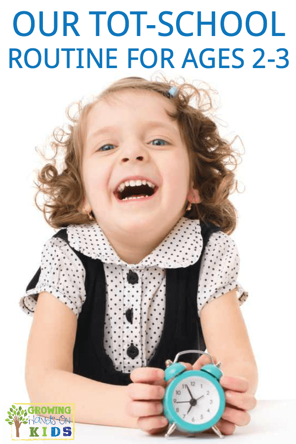 Our tot-school schedule and routine for ages 2-3, perfect for stay at home moms.