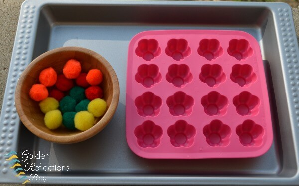 A hands-on pre-writing skills activity for toddlers. www.GoldenReflectionsBlog.com