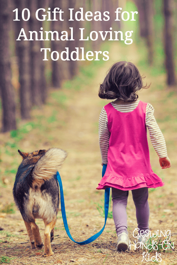 10 gift ideas for toddlers who love animals.