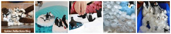 penguin sensory activities. www.GoldenReflectionsBlog.com