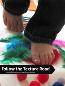 follow the texture road.