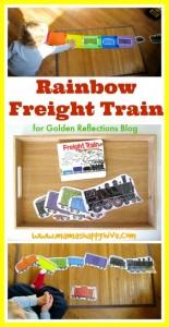 rainbow freight train tot tray