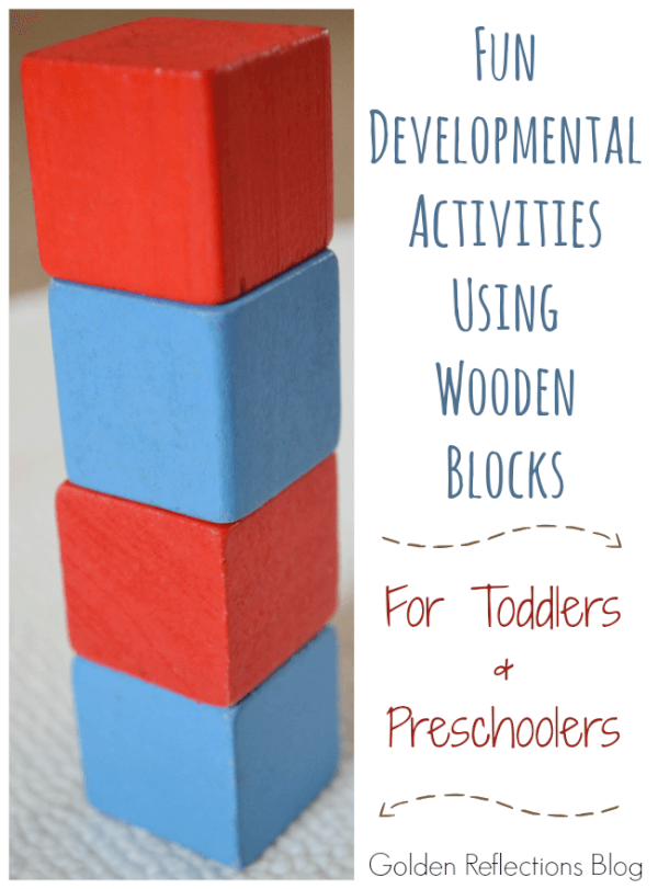 Fun and engaging developmental activities with blocks for toddlers and preschoolers. www.GoldenReflectionsBlog.com