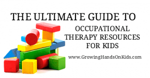 A huge list of Occupational Therapy resources for kids, perfect for parents and therapists..