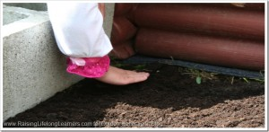 Yard work sensory play ideas, perfect for proprioception input. www.GoldenReflectionsBlog.com