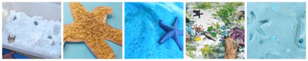 ocean and beach themed sensory play ideas for kids