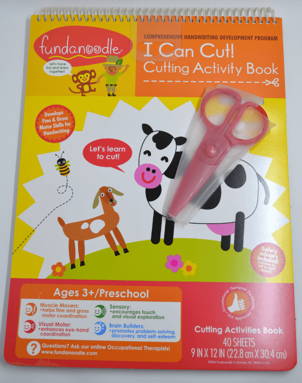 I Can Cut Activity book from Fundanoodle.