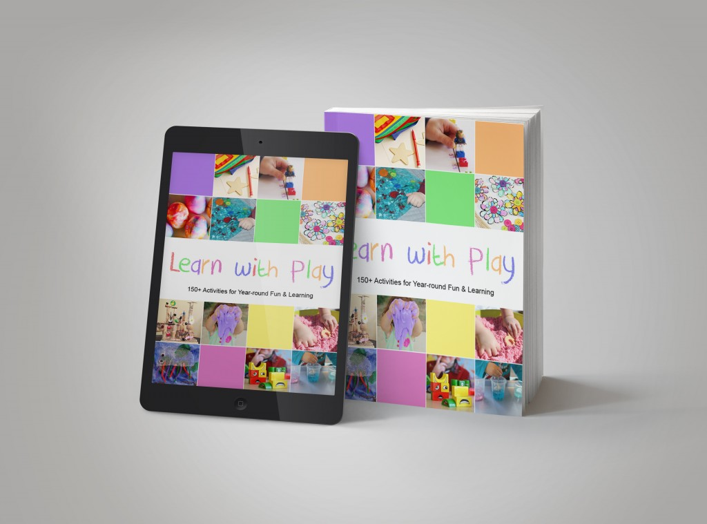 Learn with Play book, 150+ activities for babies through kindergarteners.