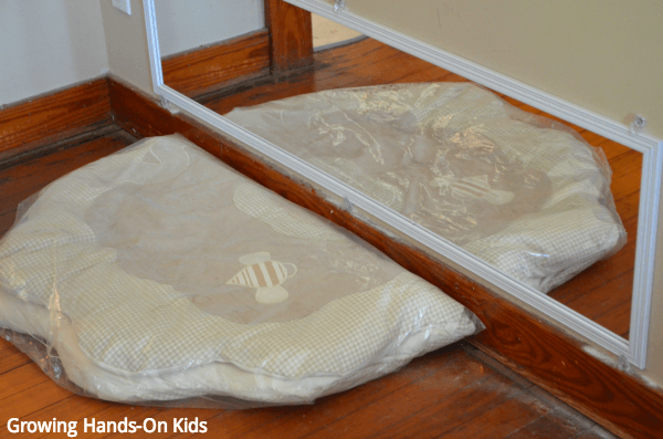montessori inspired baby play area