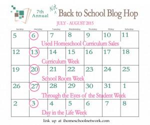 Not back to school bog hop iHomeschool Network.