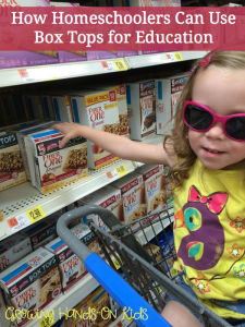 Homeschoolers can still benefit from using the Box Tops for Education program from General Mills! (sponsored by General Mills).