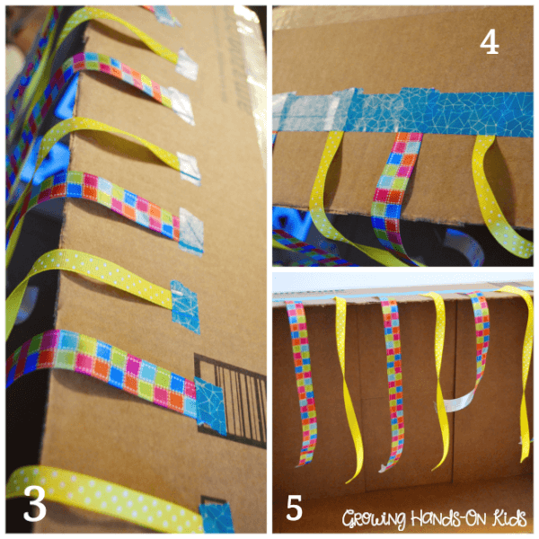 Ribbon for DIY Discovery box for baby.