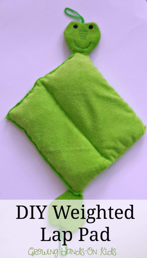 DIY weighted lap pad for sensory seeking kids.