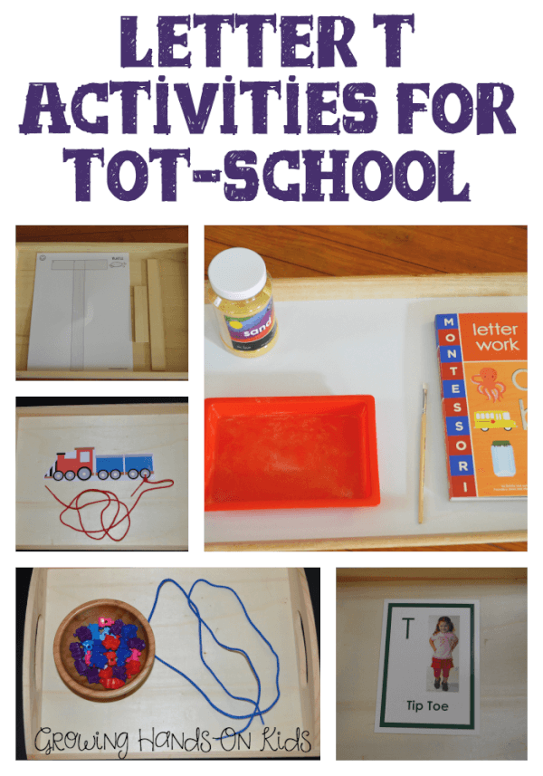 Letter T Activities for tot-school, ages 2-4 years old.