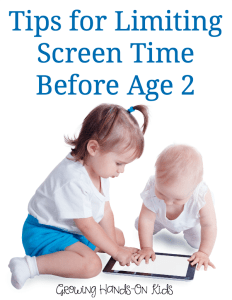 Tips for limiting screen time before ages 2 from an occupational therapist and mom.