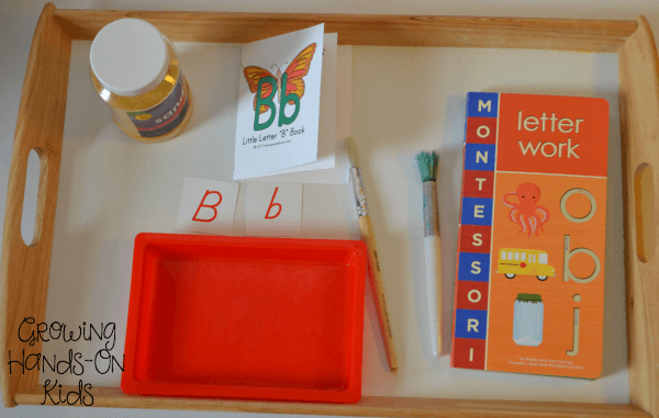 Sand tray writing center.