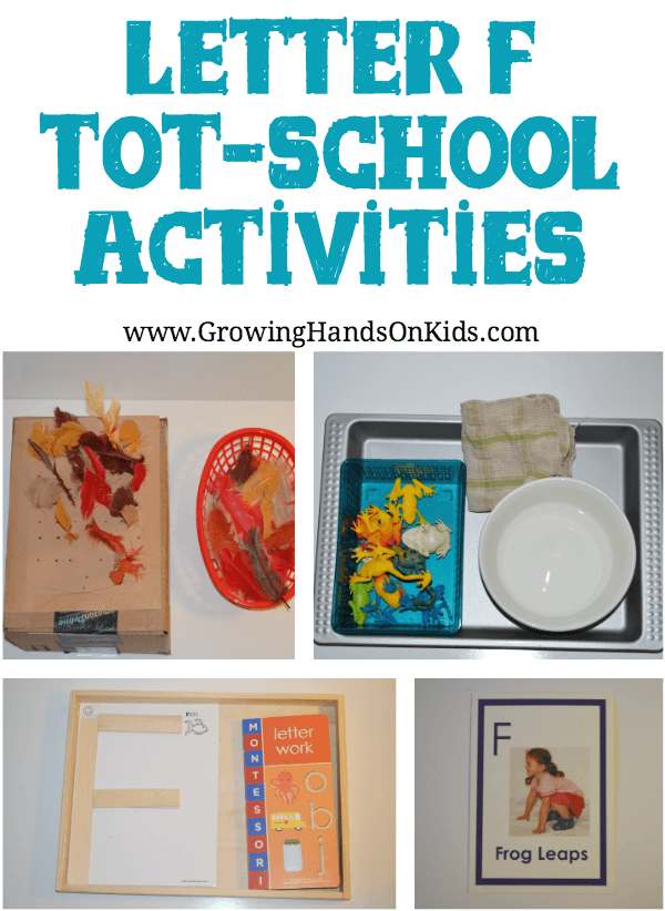 Fun and engaging Letter F activities for tot-school, ages 3-4.