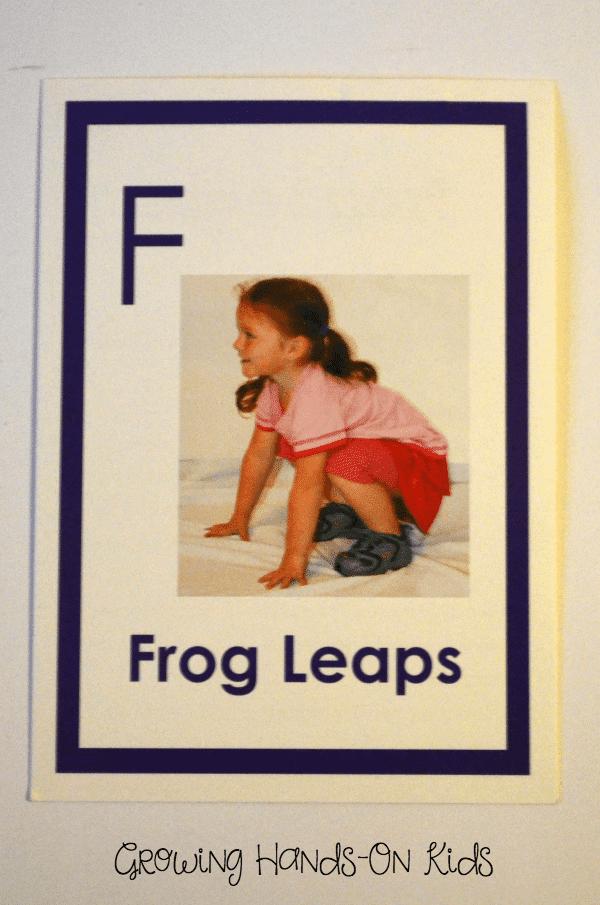 Letter F Gross motor play.