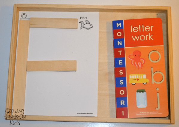 Letter F Prewriting Task tray.