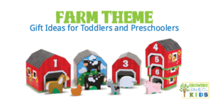 Farm theme toy and gift ideas for toddlers and preschoolers.