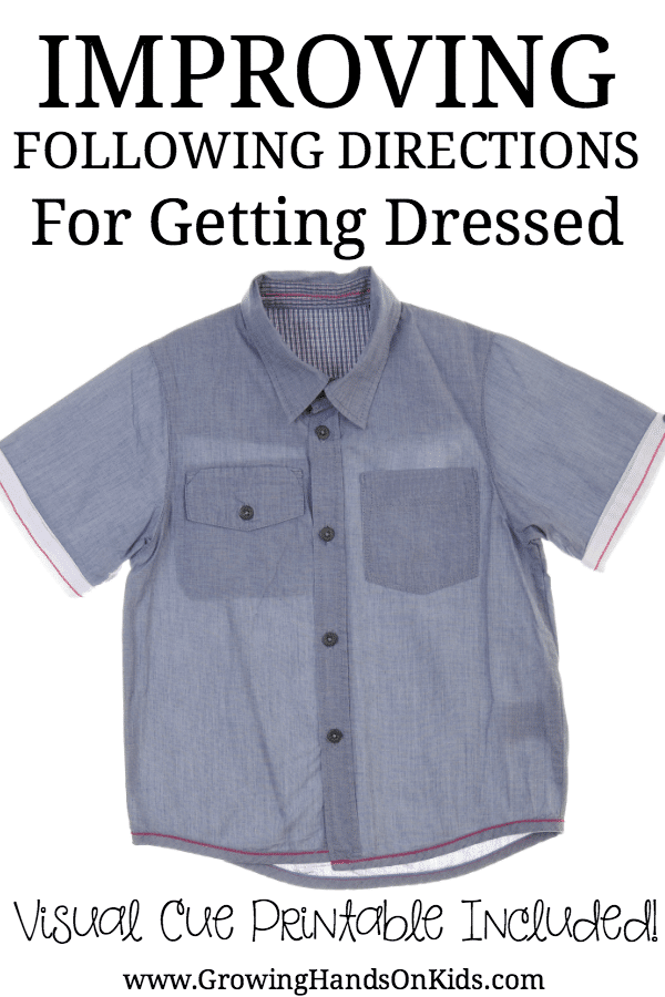 tips for following directions while getting dressed