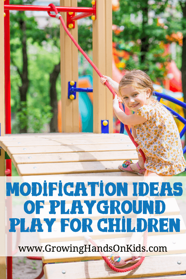 Modification ideas for playground play and children