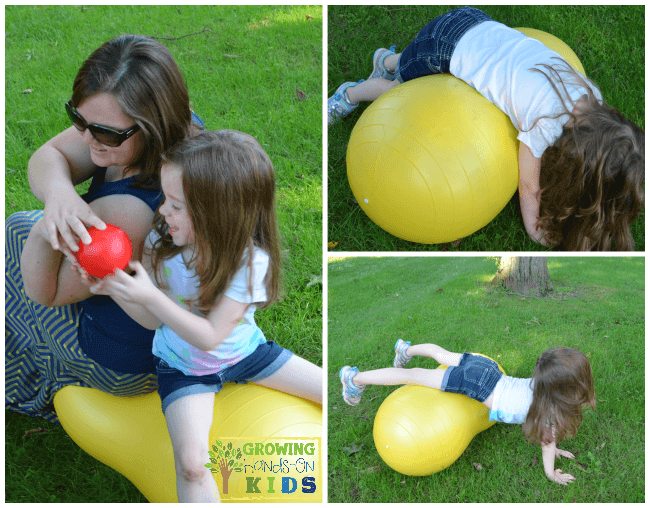 Fun Ways to use a Peanut Ball from Fun and Function.