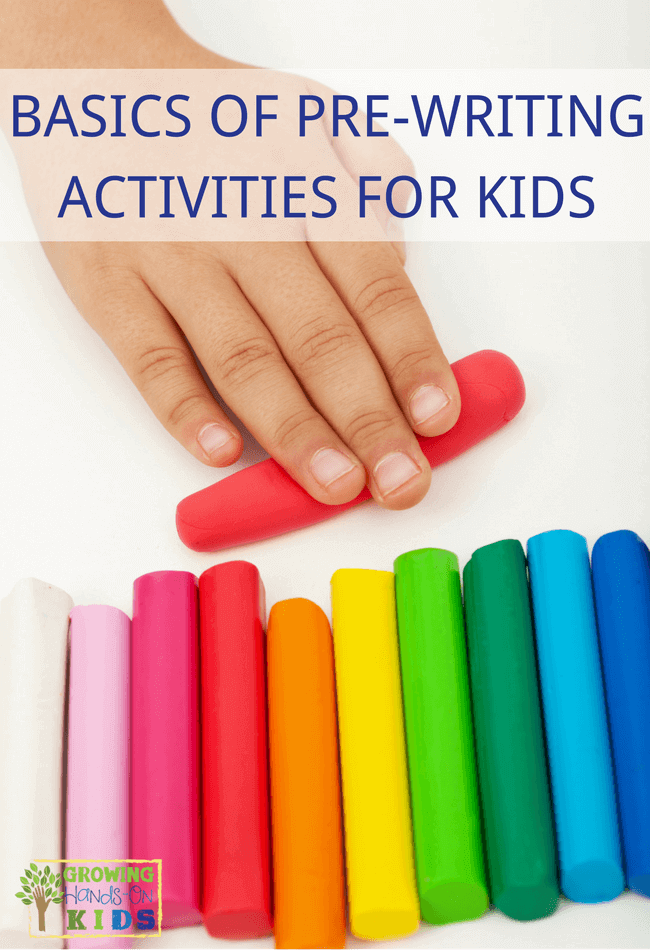 basics of pre-writing activities for kids