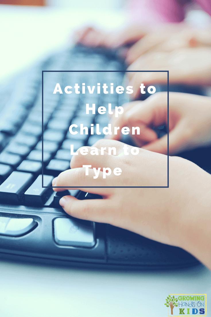 activities to help children learn to type