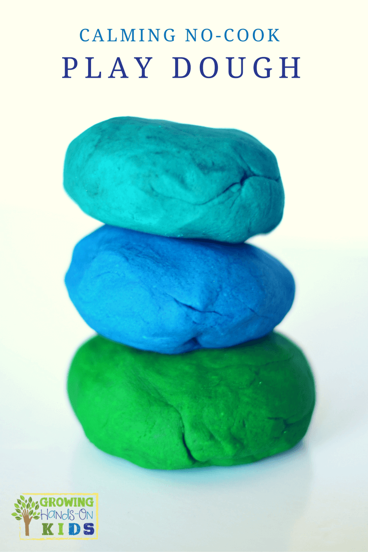 calming no-cook play dough recipe