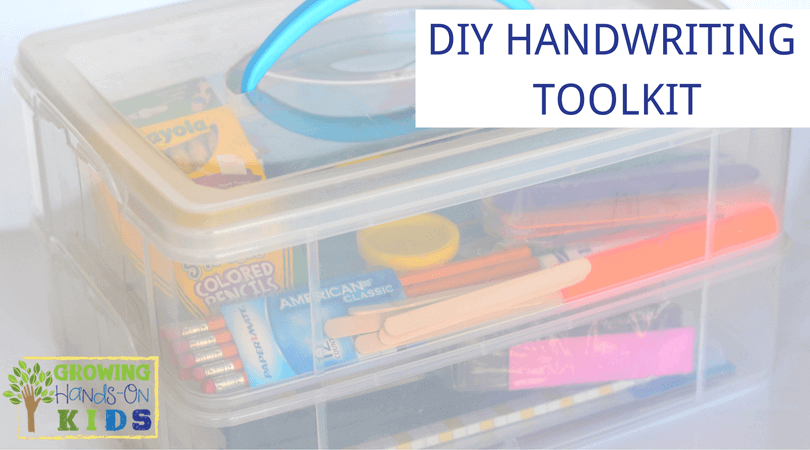 DIY Handwriting Toolkit, for therapists, teachers, and parents.