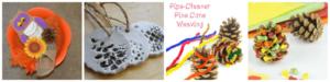 Pine cone fine motor activities for kids