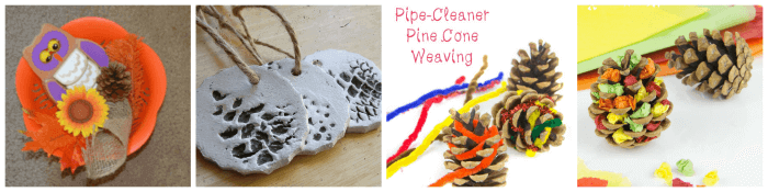 Pine cone fine motor activities for kids