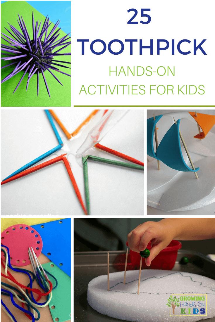 toothpick hands-on activities for kids
